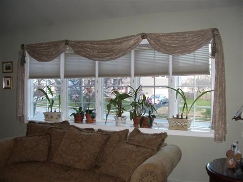 Bow window treatment pictures have a bow window not a - Living room bay window treatments ...