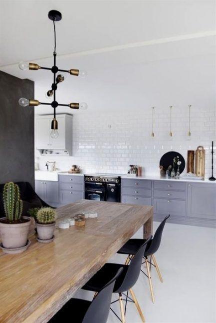 20 Ideas For Kitchen Table Black Chairs Mid Century Scandinavian Kitchen Design Home Decor Kitchen Kitchen Interior