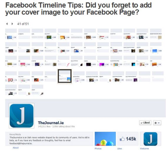 Facebook Page cover images - did you forget to add yours? Here is a reminder of the terms for Facebook cover images so you can stand out from the crowd