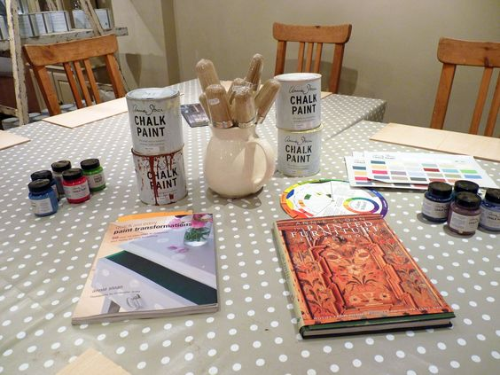 We use Annie's books as reference to demonstrate just what YOU can achieve yourself! And we 'play' with a few tester pots :)