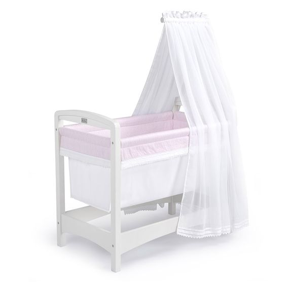 Silver Cross Nostalgia Crib Pink http://www.parentideal.co.uk/mothercare--crib-cradle.html
