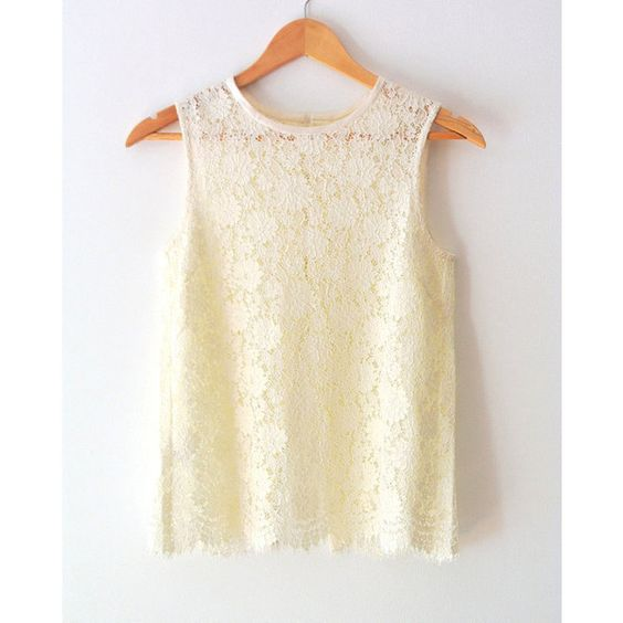 Ivory Lace Top Sleeveless Blouse French Calais Lace With 5 French ...