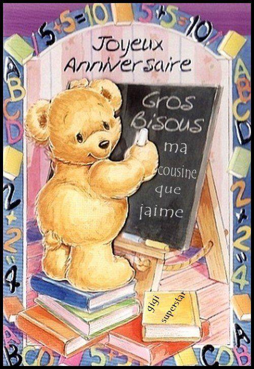 Cousin Joyeux Anniversaire Carte De Vœux-Mignon-Femme