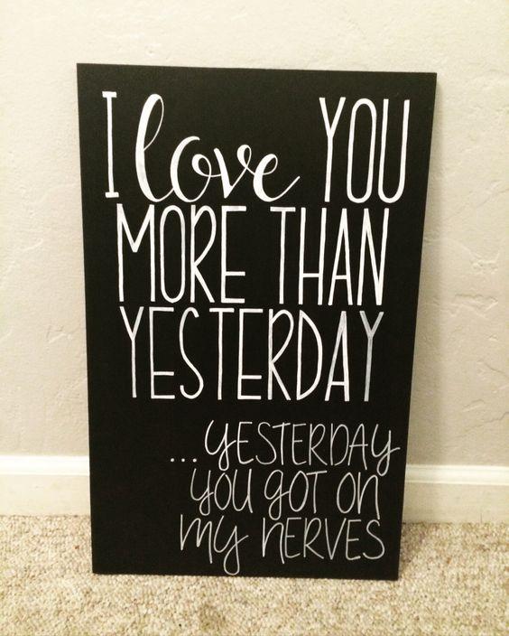 I Love You More Then Yesterday by RoseGirlDesignsShop on Etsy https://www.etsy.com/listing/492397207/i-love-you-more-then-yesterday