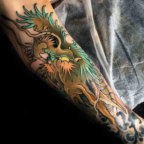 30 Dragon Forearm Tattoo Designs For Men Cool Creature Ideas Japanese Tattoos For Men Japanese Tattoo Designs Forearm Tattoo Design