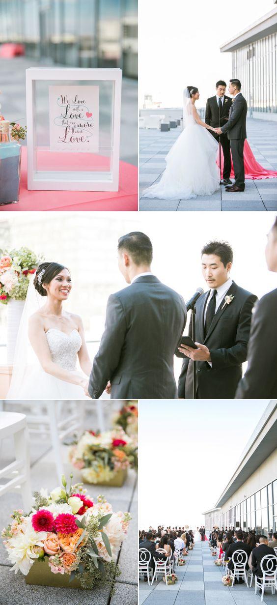 Modern Heart-Themed San Francisco Wedding