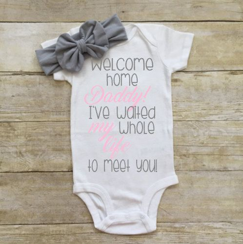 Welcome home daddy I've waited my whole life by LittleBabyCouture