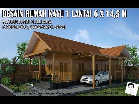 Desain Rumah Kayu 1 Lantai 6x14 5 M 3 Kamar Tidur Desain Rumah Kayu Design Rumah Kayu Disain 3d Desain Rumah Minimalis 1 Lant Rumah Kayu Desain Rumah Rumah