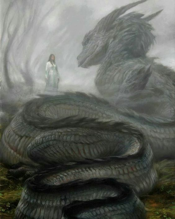 Nienor and Glaurung.