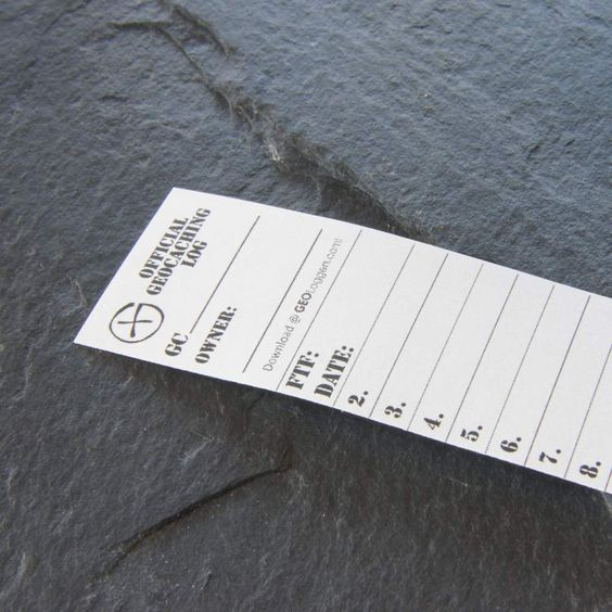 Cm  Small Geocaching Log Sheet Template  Free Download Now