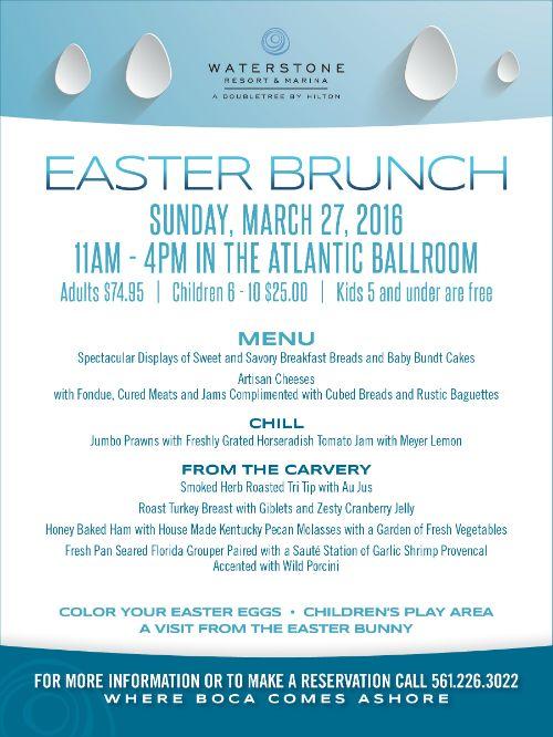 Easter Brunch At The Waterstone Resort Marina Easter Brunch
