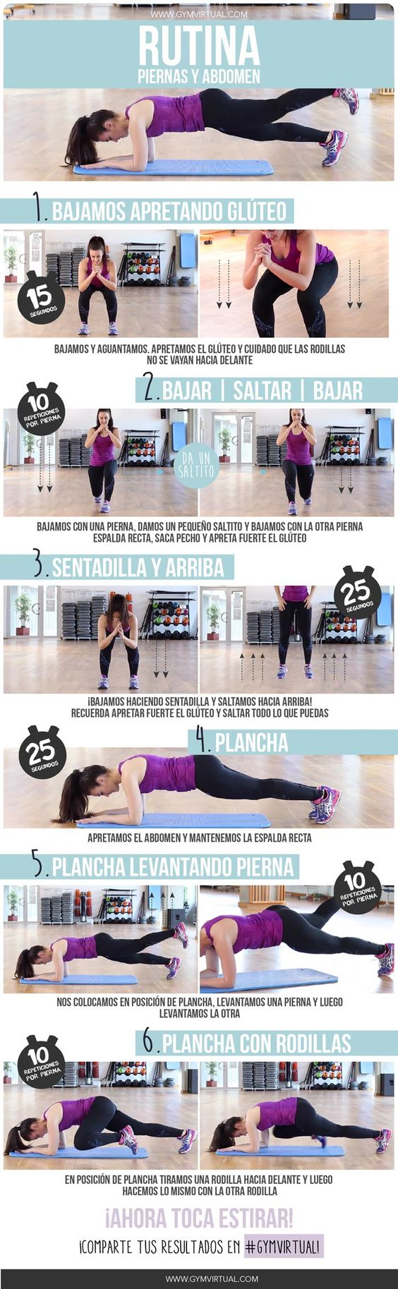 Rutina paso a paso para trabajar piernas y abdomen for Rutinas gimnasio