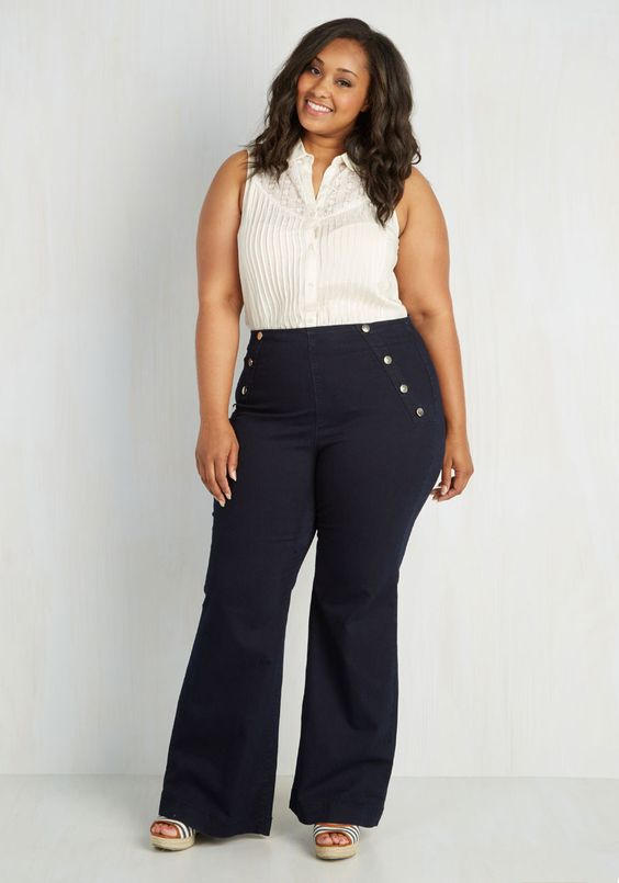 Plus Size Sailor Jeans | Plus Size Fashion | Pinterest | Dark