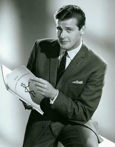 ROGER MOORE en su papel de SIMON TEMPLAR(EL SANTO,1962-1969)