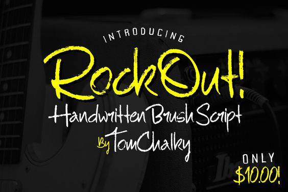 RockOut! Script + Stylistic Alts! by Tom Chalky on Creative Market