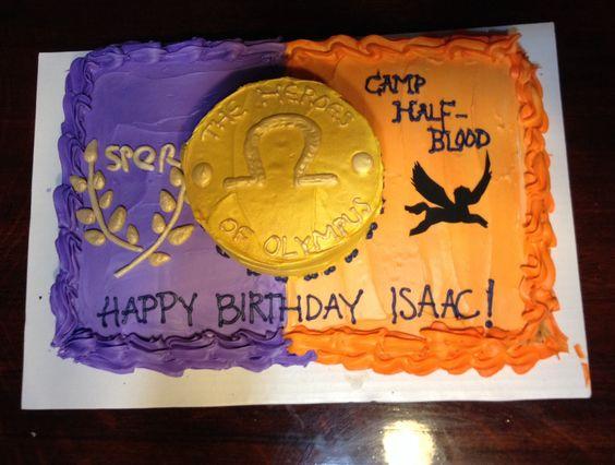Heroes of Olympus cake. Percy Jackson.
