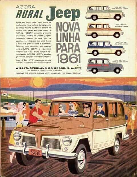 1961 Rural Jeep Brazil Willys Jeep Vintage Jeep