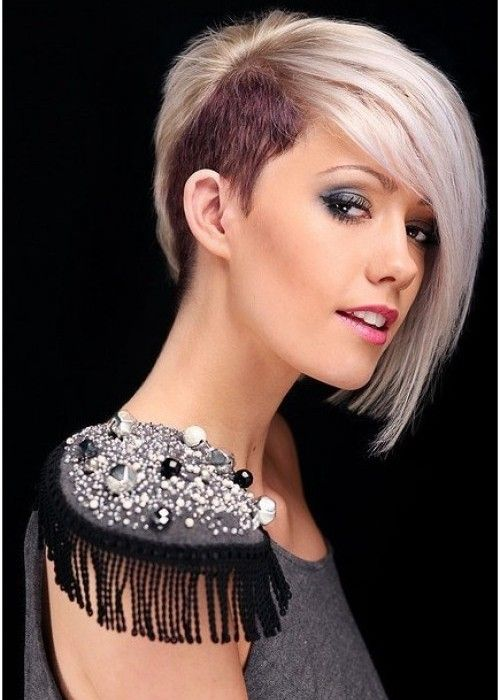 Half Shaved Head Hairstyle Shorthair21500X700  Curl Up And Dye  Pinterest  Half Shaved