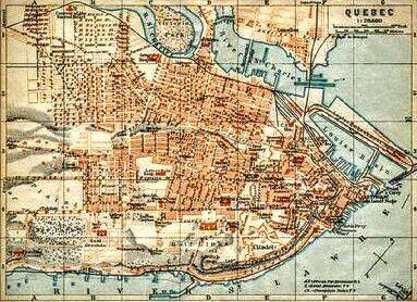 Carte de la ville de qu bec en 1922 photos anciennes de for Ville d estaires facebook
