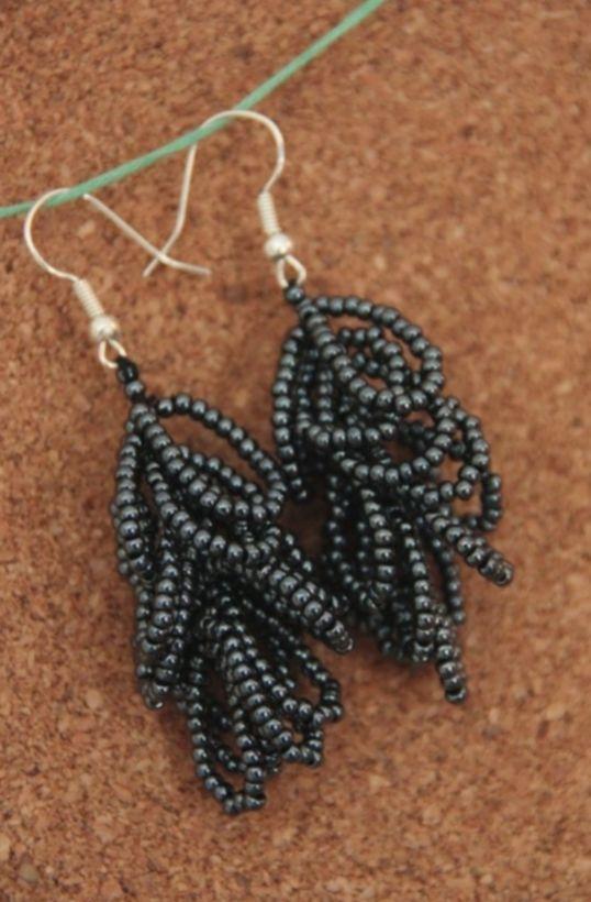 6 Jewelry Accessories Earrings Black Beaded Earrings Patterns