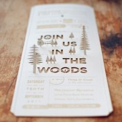 my future wedding invite not sure who it's by from http://goodtypography.tumblr.com/