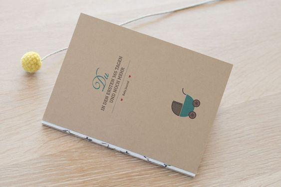 Babytagebücher - Du in ersten 365 Tagen  - Baby Journal -   - ein Designerstück von beutelkids bei DaWanda