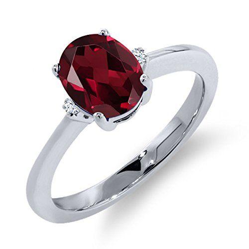 1.50ct 5 Stone Rhodolite Garnet Sterling Silver Ring