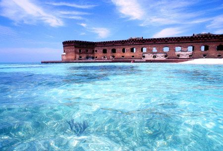 Dry Tortugas National Park - 70 miles west of Key West.
