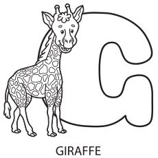 Alphabet Upper Case Letter G Coloring Page to Print
