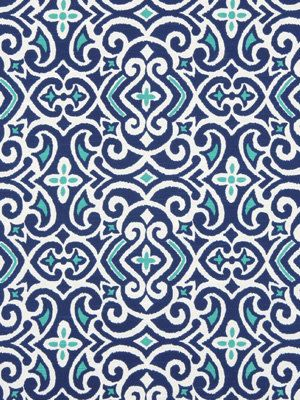 Navy turquoise ikat fabric cobalt blue love this and - Modern fabrics for curtains ...