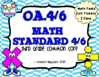 Unknown Factors: Math Tasks, Exit Tickets, I Cans; Common