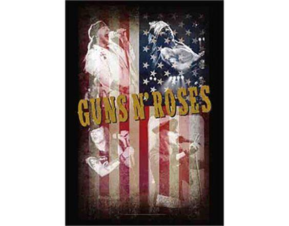 Guns 'n' Roses - Stars and Stripes Collage - Textile Poster Flag