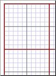 Graph paper for cross-stitch