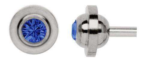 Zungenpiercing Titan Ufo 8 mm Ø + 5 mm Zirkonia Kugel #piercing #piercing-verschluss