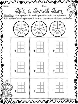 NO PREP! Add Up to Four 2 Digit Numbers | Math, Activities and Places