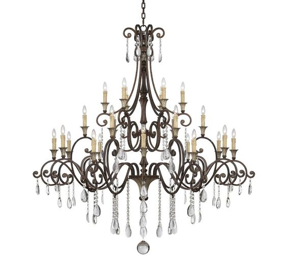 "Savoy House 1-3004-24 St. Laurence 24 Light 66"" Wide 3 Tier Chandelier with Crys New Tortoise Shell with Silver Indoor Lighting Chandeliers"