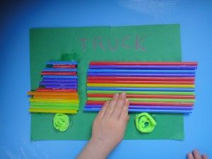 truck craft, car craft, preschool craft, toddler craft, drinking straw craft, transportation crafts, homeschool preschool
