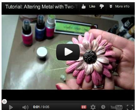 Tutorial: Altering Metal with Two-Toned Embossing Powders Lindy's Stamp Gang