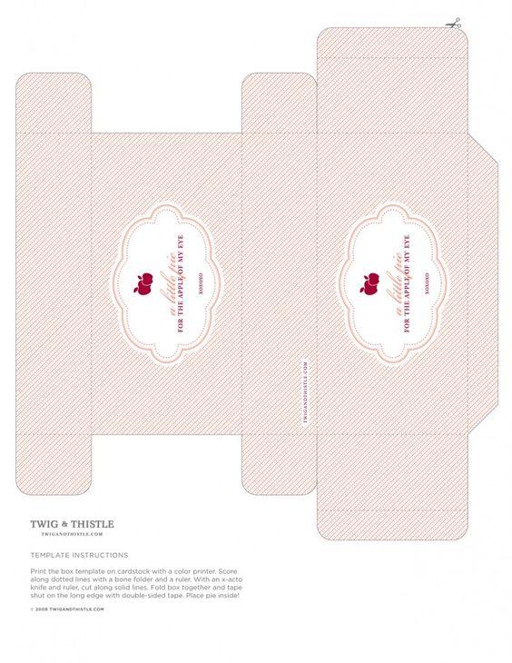 Image detail for -Handheld Apple Pie Box Template | Desserts Magazine