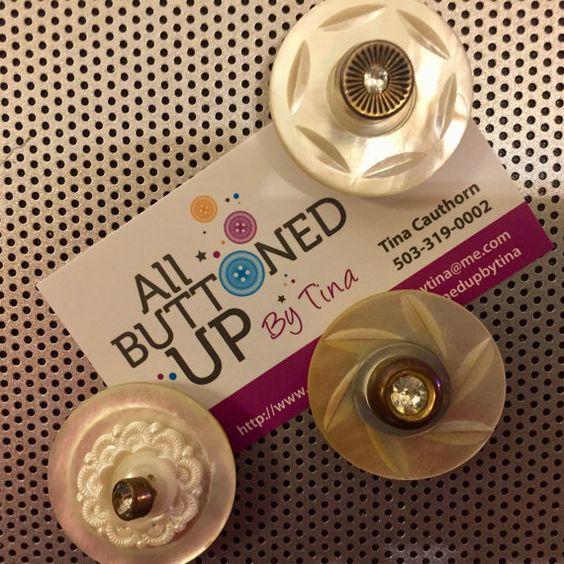 Mother of Pearl Flower Magnets ~ Desk Accessories ~ Gift for Girl ~ Gift for Her ~ Shower Gift ~ Shabby Chic Decor ~ Girls Bedroom Decor