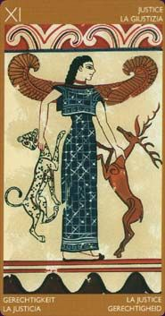 Etruscan Tarot The Etruscan Tarot is a historically-themed art deck, based on the culture, civilisation, and mystical beliefs of the ancient Etruscans, a pre-Roman tribe who lived in what is now modern day Italy.  Read reviews of the Etruscan Tarot  Created by Riccardo Minetti, Silvana Alasia Tarot Deck - 78 Cards - Lo Scarabeo  Deck นี้แสดงให้เห็นถึงการใช้ภาพที่เกี่ยวเนื่องกับประวัติศาสตร์และวัฒนธรรมของชนเผ่าโบราณ