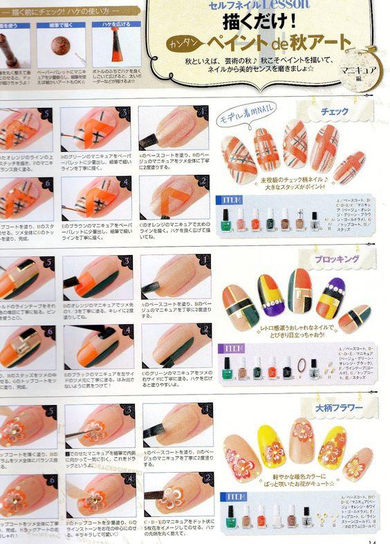 easy to do nail art step by step tutorial | November nail ...