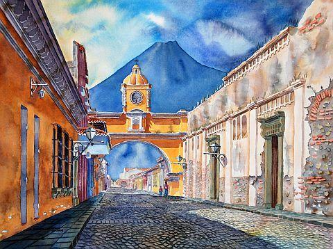 09 Calle Del Arco Jpg 480 358 South American Art American Art Art Painting