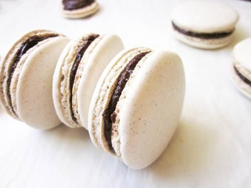 French macarons with Nutella.