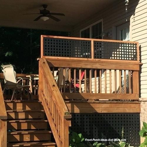 Pin By Heather Keatts On Monos Deck Porch Privacy Privacy Panels Front Porch Pictures