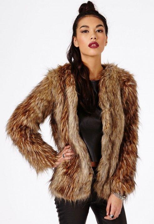 Adele Long Haired Faux Fur Coat