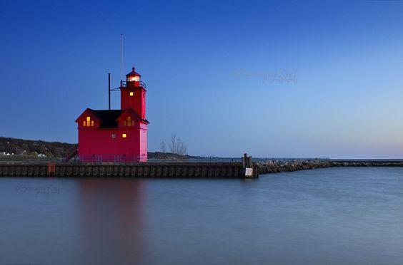 Big Red Lighthouse - Holland, MI by Somajita Ray, via 500px
