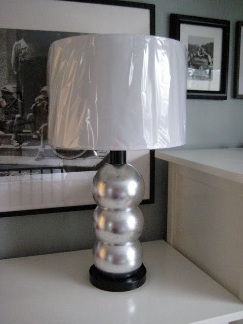 hodge:podge: The Midas' Touch: Another Thrift Lamp Makeover