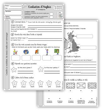 Evaluations d'anglais CE2 et CM1