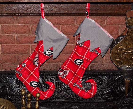 GA Dawgs! Elf Toe Stockings
